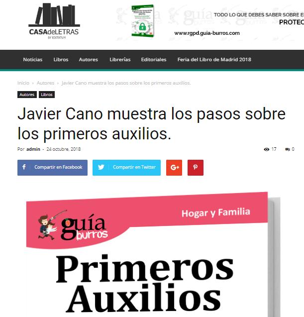 Casa de Letras, medio experto en libros de autor, habla sobre el último trabajo de Javier Cano